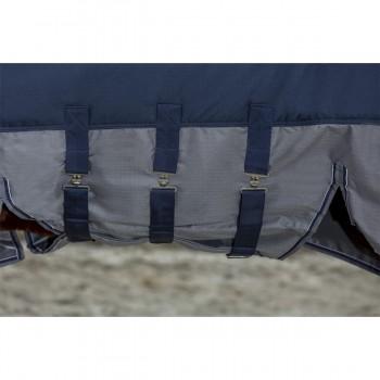 Equitheme Tyrex 600D Belly Belt 300g Blue/Grey Turnout Rug