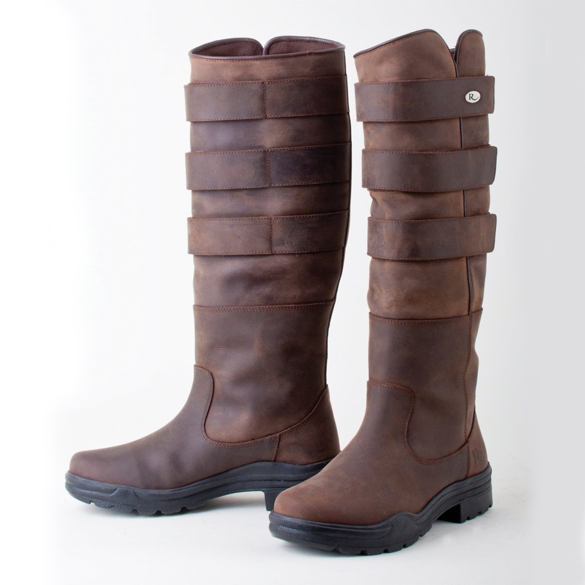 Rhinegold Elite Colorado Brown Leather Country Boots