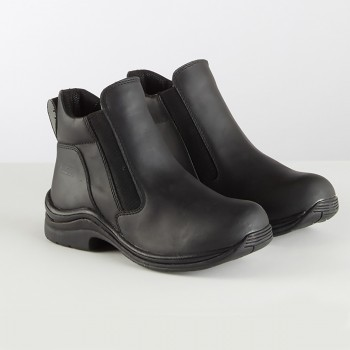 Toggi Black Leather Suffolk Pull On Jodhpur Boots