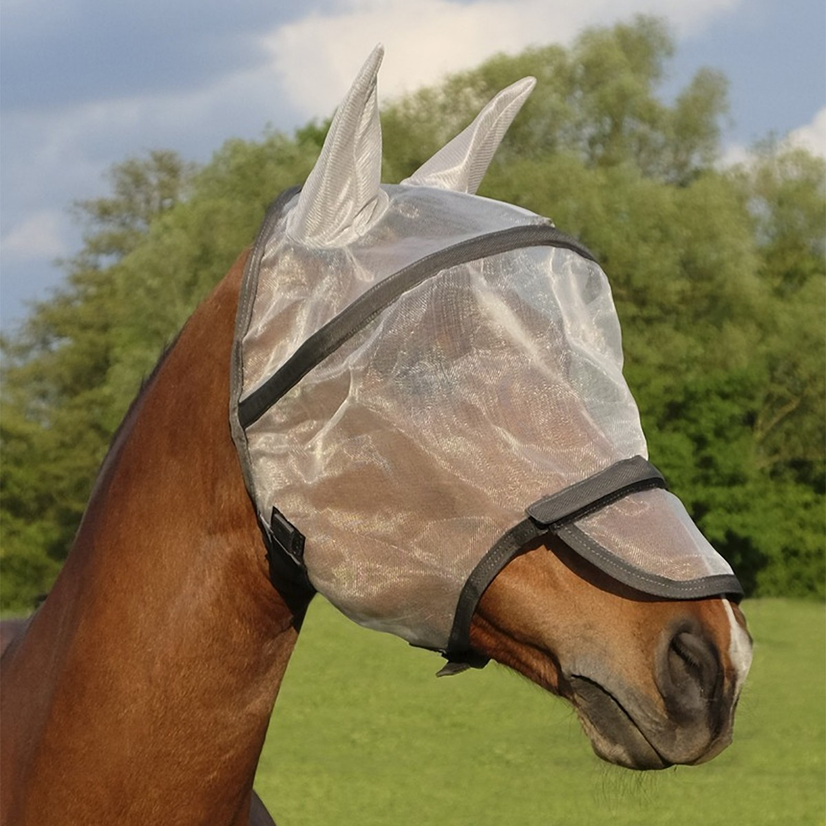 Equitheme Protec Fly Mask With Ears & Nose Protection