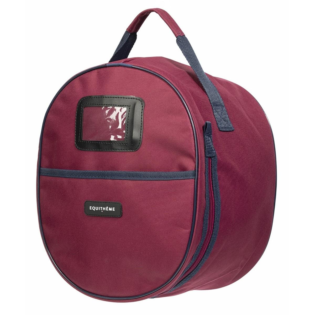 Equitheme Burgundy/Navy Helmet Bag