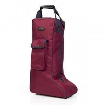 Equitheme Burgundy/Navy Long Boots Bag