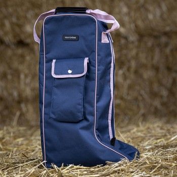 Equitheme Navy/Pink Long Boots Bag