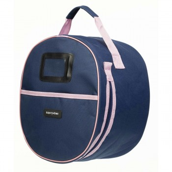 Equitheme Navy/Pink Helmet Bag