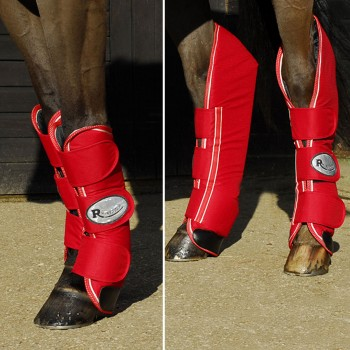 Rhinegold Red Ripstop Full Length Travel Boots (Set of 4)