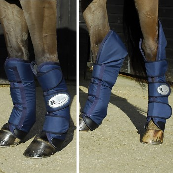 Rhinegold Navy Ripstop Full Length Travel Boots (Set of 4)