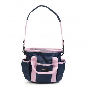 Equitheme Navy & Pink Multi Pocket Grooming Kit Bag