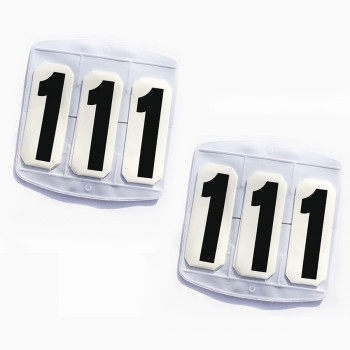 Saddle Cloth Holder With Numbers (Pair)