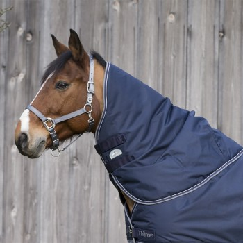Equitheme 600D Lightweight Navy/Grey Turnout Neck Cover