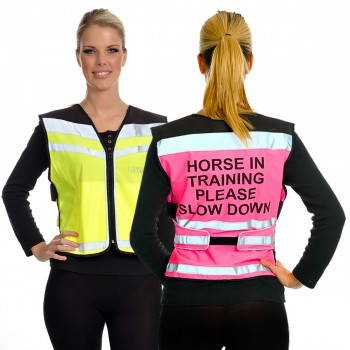 Equisafety Adults Horse In Training Hi Viz Air Waistcoat