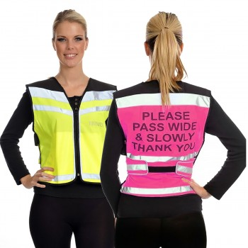 Equisafety Adults Please Pass Wide & Slowly Hi Viz Air Waistcoat