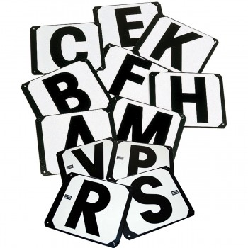 Stubbs Set of 12 Metal Screw On Dressage Letters