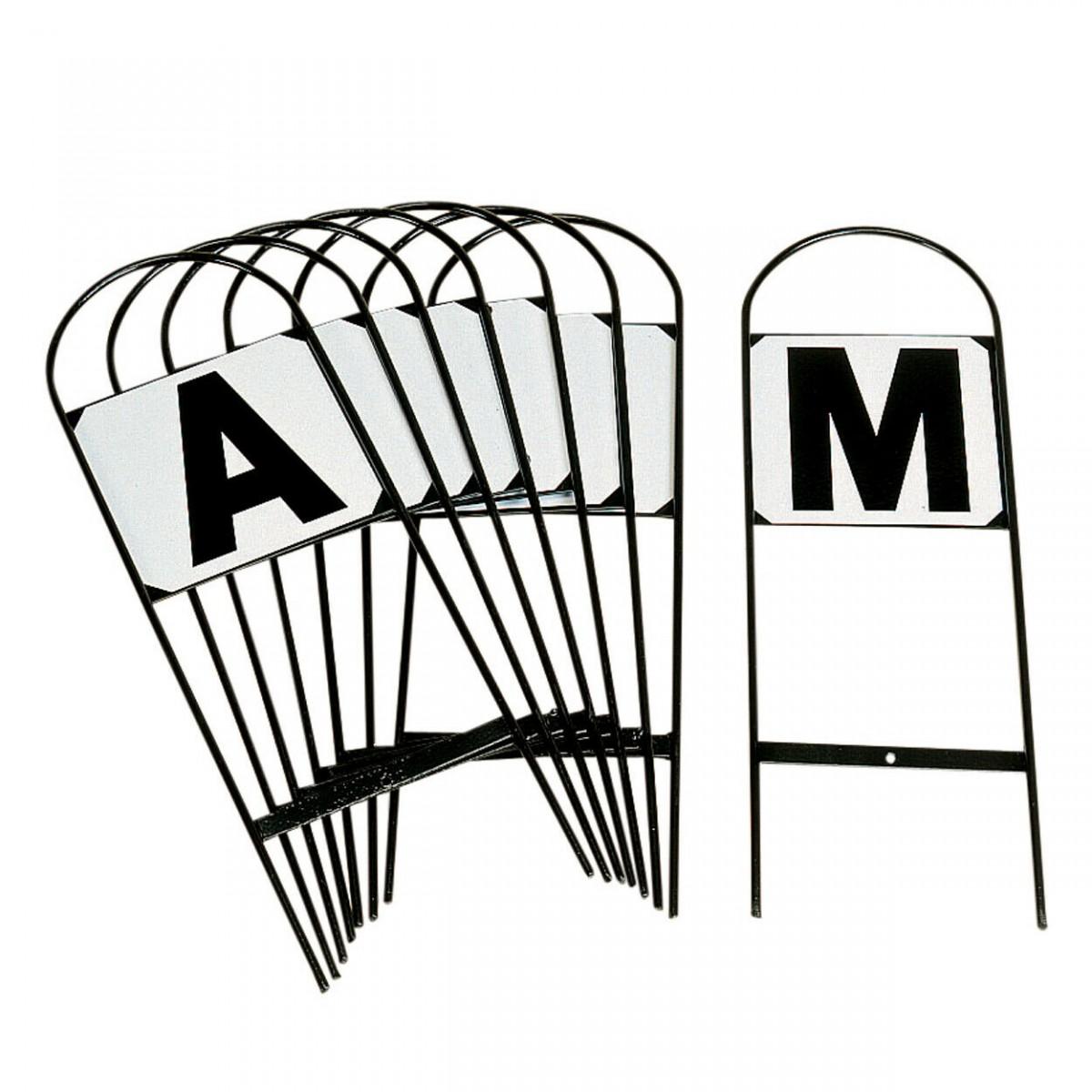 Stubbs Set Of 8 Tread In Hoop Dressage Arena Letters Markers