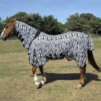 Rhinegold Sahara Zebra Print Combo Fly Rug