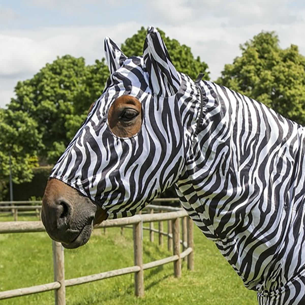 Equitheme Zebra Sweet Itch Mask