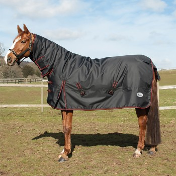 Rhinegold 1000D 350g Aspen Black Heavyweight Combo Turnout Rug