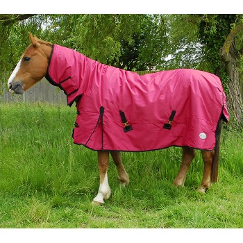 Rhinegold 600D 200g Konig Red Mediumweight Combo Turnout Rug