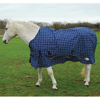 Rhinegold 600D Fleece Lined Atlanta Check Turnout Rug