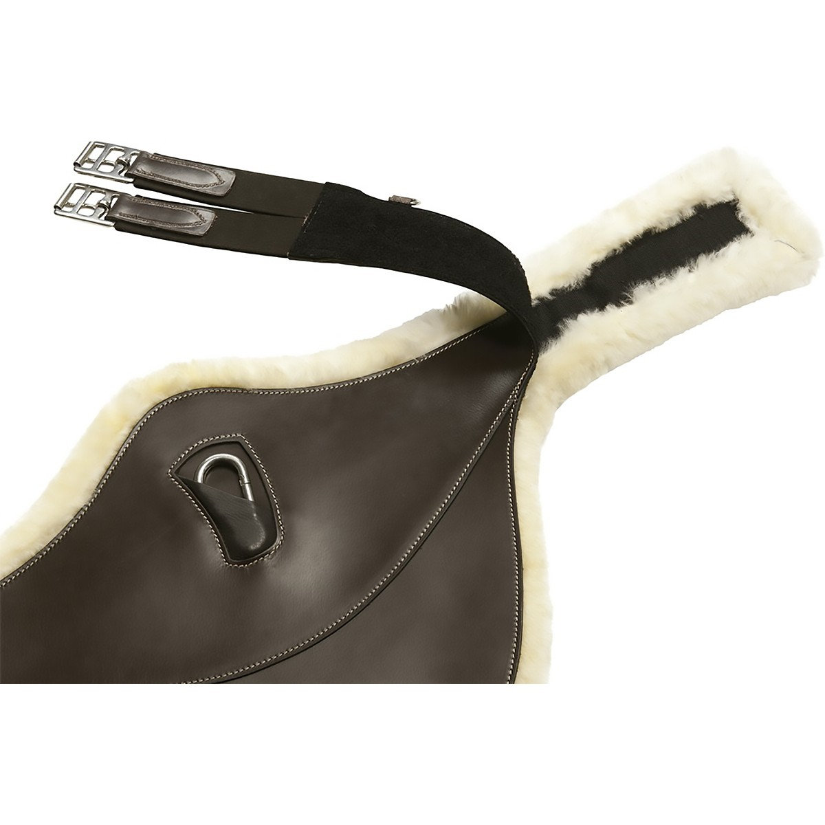 Norton Pro Leather Sheepskin Lined Belly Protector  (Stud) Girth