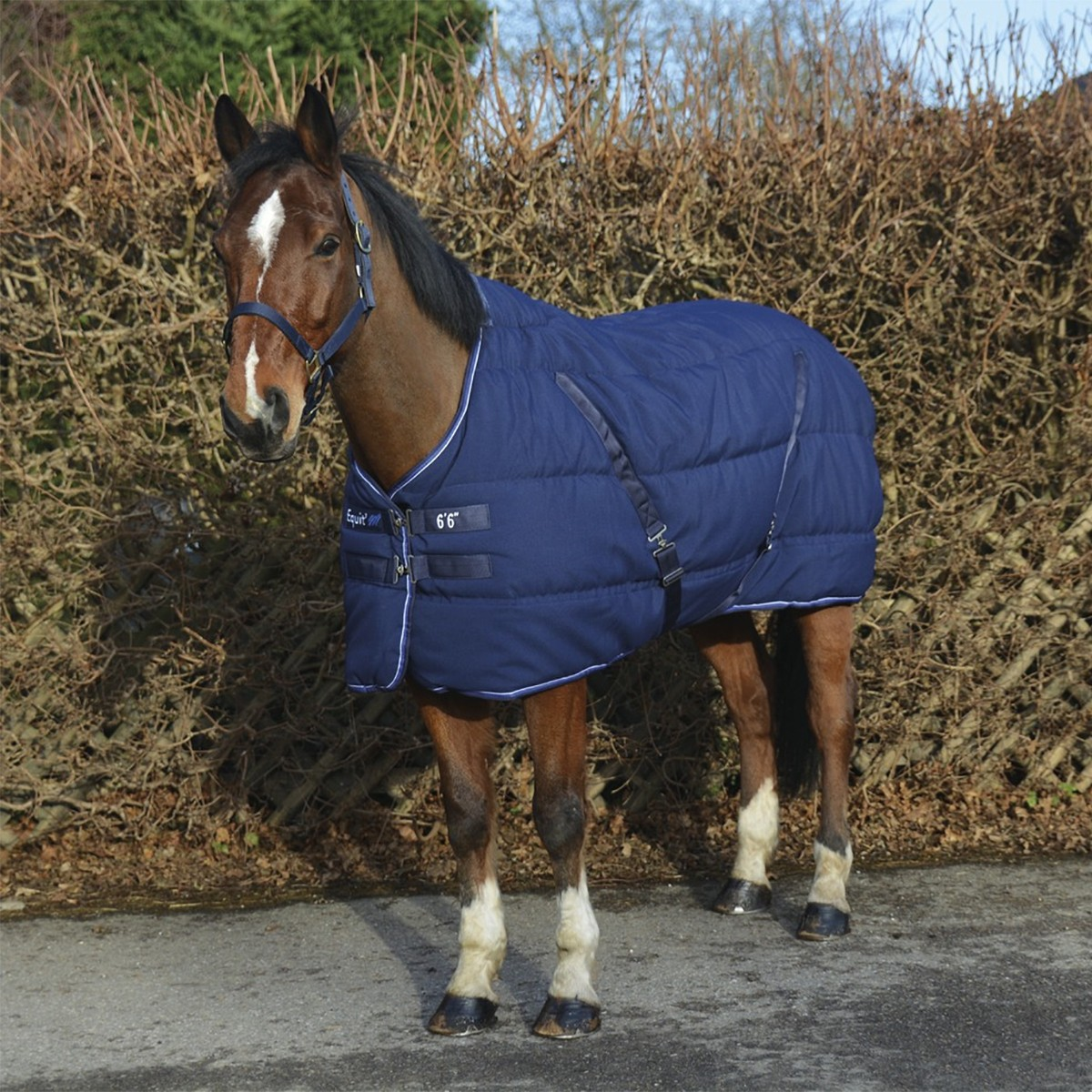 Equitheme 400g Heavyweight Navy Stable Rug