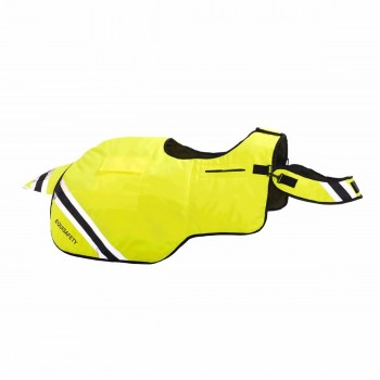 Equisafety Winter Hi Vis Yellow Wrap Around Exercise Sheet