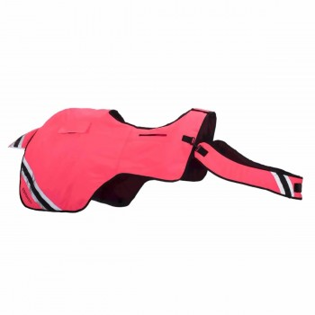 Equisafety Winter Hi Vis Pink Wrap Around Exercise Sheet