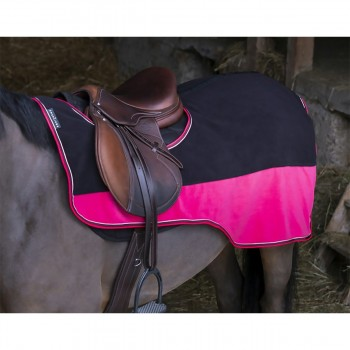 Equitheme Black/Raspberry Fleece Exercise Rug