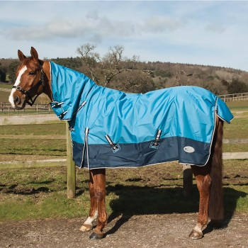Rhinegold Torrent Lightweight Combo Sky Blue/Navy Turnout Rug